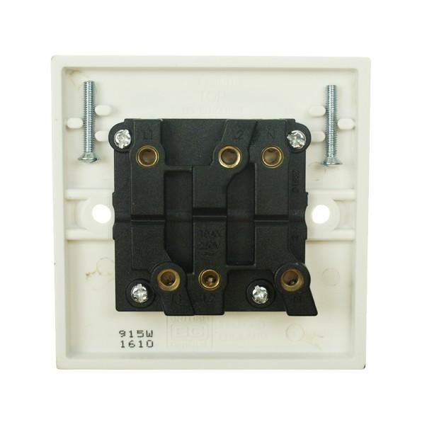 BG White PVC Triple Pole Fan Isolator Switch At UK Electrical Supplies