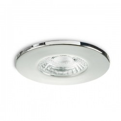 Collingwood Fire-Rated Fixed GU10 Downlight with Polished Chrome Bezel