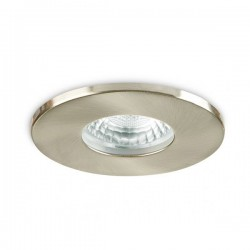 Collingwood Fire-Rated IP65 Fixed GU10 Downlight with Brushed Steel Bezel