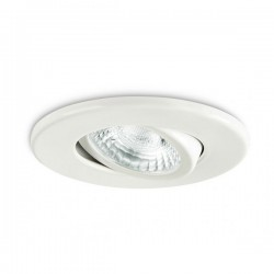Collingwood Fire-Rated Adjustable GU10 Downlight with White Bezel