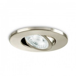 Collingwood Fire-Rated Adjustable GU10 Downlight with Brushed Steel Bezel