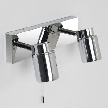 Astro Como Twin Polished Chrome Bathroom Spotlight