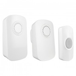 Uni-Com Smart Chime Portable and Plug In Door Chime Set