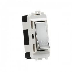 Knightsbridge Grid Polished Chrome 10A 3 Pole Fan Isolator Switch Module