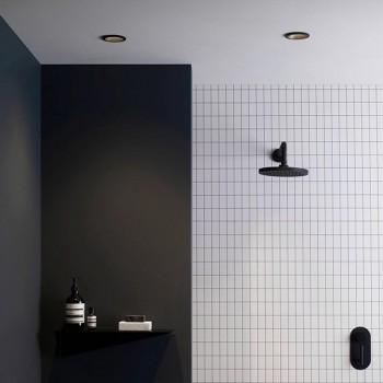 Astro Minima Round GU10 Matt Black Bathroom Downlight