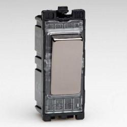 Varilight PowerGrid Iridium Black 10A Multi-Way Push Retractive Switch Module