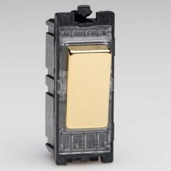 Varilight PowerGrid Polished Brass 10A Multi-Way Push Retractive Switch Module