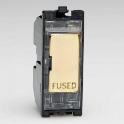Varilight PowerGrid Polished Brass 13A Fuse Module