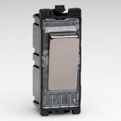 Varilight PowerGrid Iridium Black 20A 1 Way DP Switch Module