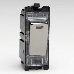 Varilight PowerGrid Iridium Black 20A 1 Way DP Switch Module with Neon