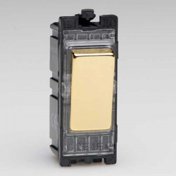 Varilight PowerGrid Polished Brass 20A 1 Way DP Switch Module