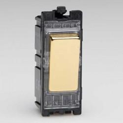 Varilight PowerGrid Polished Brass 20A 2 Way Switch Module
