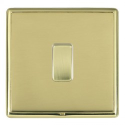 Hamilton Linea-Rondo CFX Polished Brass/Polished Brass 1 Gang Push To Make Retractive Rocker with White I...
