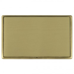 Hamilton Linea-Rondo CFX Antique Brass/Satin Brass Double Blank Plate