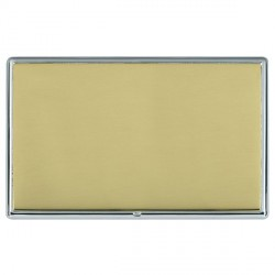 Hamilton Linea-Rondo CFX Bright Chrome/Polished Brass Double Blank Plate