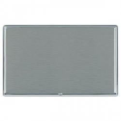 Hamilton Linea-Rondo CFX Bright Chrome/Satin Steel Double Blank Plate