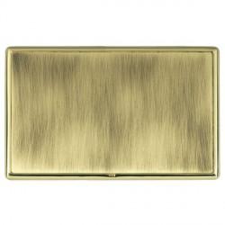 Hamilton Linea-Rondo CFX Polished Brass/Antique Brass Double Blank Plate