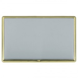 Hamilton Linea-Rondo CFX Polished Brass/Bright Steel Double Blank Plate