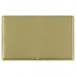 Hamilton Linea-Rondo CFX Polished Brass/Satin Brass Double Blank Plate