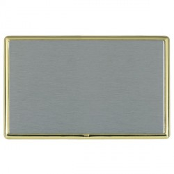 Hamilton Linea-Rondo CFX Polished Brass/Satin Steel Double Blank Plate