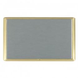 Hamilton Linea-Rondo CFX Satin Brass/Satin Steel Double Blank Plate