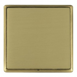 Hamilton Linea-Rondo CFX Antique Brass/Satin Brass Single Blank Plate