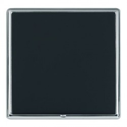 Hamilton Linea-Rondo CFX Bright Chrome/Piano Black Single Blank Plate
