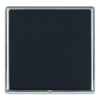 Hamilton Linea-Rondo CFX Bright Chrome/Piano Black Single Blank Plate
