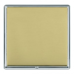 Hamilton Linea-Rondo CFX Bright Chrome/Polished Brass Single Blank Plate