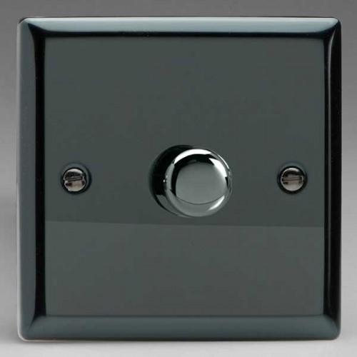 Varilight jfip 401 Ultraflat Iridium Noir 1 Gang 2 Way DEL Dimmer 0-120 W V-pro