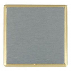 Hamilton Linea-Rondo CFX Satin Brass/Satin Steel Single Blank Plate