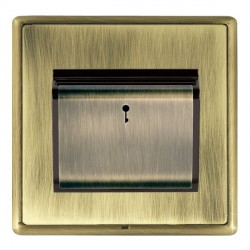 Hamilton Linea-Rondo CFX Antique Brass/Antique Brass 1 Gang On/Off 10A Card Switch with Blue LED Locator ...
