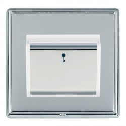 Hamilton Linea-Rondo CFX Bright Chrome/Bright Chrome 1 Gang On/Off 10A Card Switch with Blue LED Locator ...