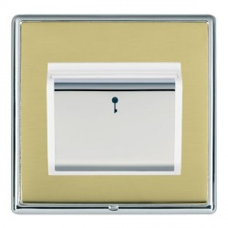 Hamilton Linea-Rondo CFX Bright Chrome/Polished Brass 1 Gang On/Off 10A Card Switch with Blue LED Locator...