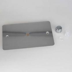 Varilight Ultraflat Polished Chrome 1 Gang Twin Plate Rotary Dimmer Matrix Kit
