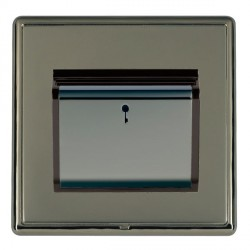 Hamilton Linea-Rondo CFX Black Nickel/Black Nickel 1 Gang On/Off 10A Card Switch with Blue LED Locator wi...