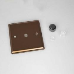 Varilight Urban Brushed Bronze 1 Gang Rotary Dimmer Matrix Kit