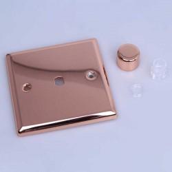 Varilight Urban Polished Copper 1 Gang Rotary Dimmer Matrix Kit