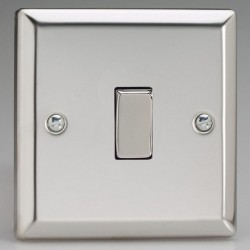 Varilight Classic Mirror Chrome 1 Gang 10A 2 Way Switch