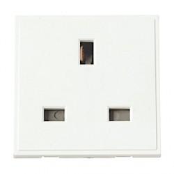 Click White 13amp Socket Module