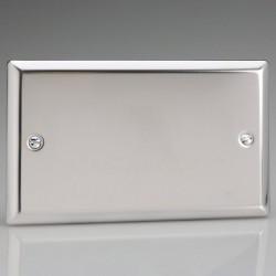Varilight Classic Mirror Chrome 2 Gang Blank Plate