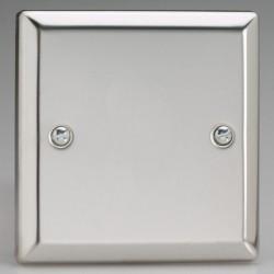 Varilight Classic Mirror Chrome 1 Gang Blank Plate