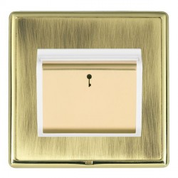 Hamilton Linea-Rondo CFX Polished Brass/Antique Brass 1 Gang On/Off 10A Card Switch with Blue LED Locator...