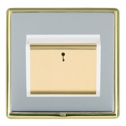 Hamilton Linea-Rondo CFX Polished Brass/Bright Steel 1 Gang On/Off 10A Card Switch with Blue LED Locator ...