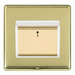 Hamilton Linea-Rondo CFX Polished Brass/Polished Brass 1 Gang On/Off 10A Card Switch with Blue LED Locato...