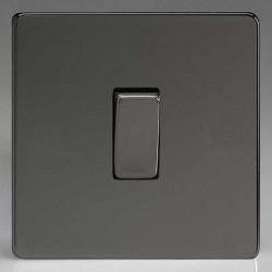 Varilight Screwless Iridium Black 1 Gang 10A 2 Way Switch
