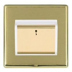 Hamilton Linea-Rondo CFX Polished Brass/Satin Brass 1 Gang On/Off 10A Card Switch with Blue LED Locator w...