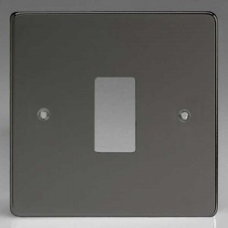 Varilight PowerGrid Iridium Black 1 Gang Faceplate