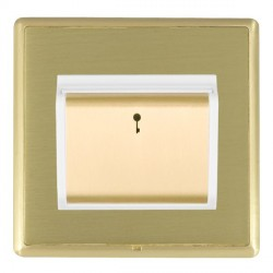 Hamilton Linea-Rondo CFX Satin Brass/Satin Brass 1 Gang On/Off 10A Card Switch with Blue LED Locator with...