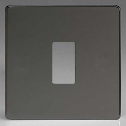 Varilight PowerGrid Screwless Iridium Black 1 Gang Faceplate